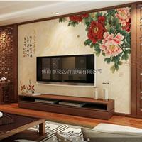 客厅瓷砖雕刻背景墙多少钱一平方?