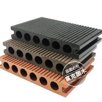 140*25mm生态木防腐防潮圆孔空心塑木地板