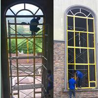 厂家重型断桥铝合金平开门、窗纱一体平开门