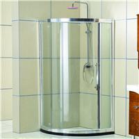 1厂家直销 钢化玻璃淋浴屏 弧扇形简易淋浴房