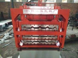 博远生产三层压瓦机仿古琉璃瓦成型设备