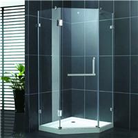 卫浴厂家供应豪华淋浴房 钻石型平开淋浴门