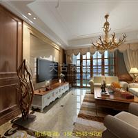 渝北两江春城洋房装修案例|美式风格设计