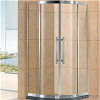 不锈钢扇形二固二移淋浴房 非标定制卫浴门