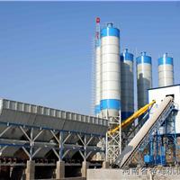 天津HZS120型商品混凝土搅拌站紧张施工中