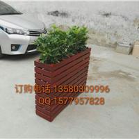 小区人行道花盆|优质木花箱|网格实木花箱