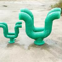供应玻璃钢定制 玻璃钢管道 U型存水弯