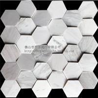 不规则六角形石材马赛克  艺术马赛克