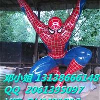 电影院玻璃钢道具模型雕塑蜘蛛侠圆雕大摆件