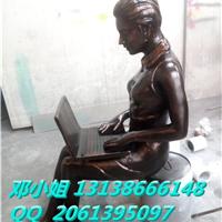职业女性仿铜雕像玻璃钢上班族白领丽人雕塑