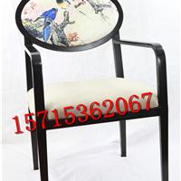 新中式酒店会所休闲椅餐椅现代布艺餐椅
