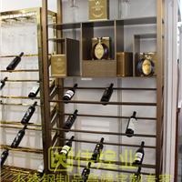 广州红古铜特色设计酒架工艺
