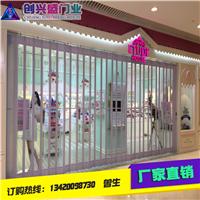 广州电动卷闸厂批发铝合金PVC水晶折叠门