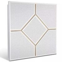 铝天花厂家供应印花压纹铝扣板吊顶-四方结