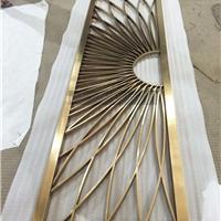 不锈钢屏风定制 酒柜金属隔断镂空 花格定制