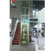OTSE小井道尺寸家用钢带平台小型别墅电梯