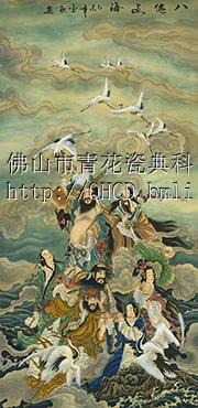 供应名画釉中彩陶瓷背景墙