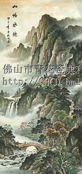 供应 高温 陶瓷 背景墙 青花瓷典