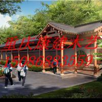 供应重庆防腐木长廊防腐木长廊碳化木长廊