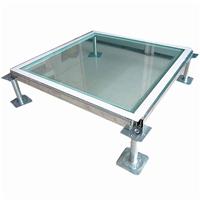 供应宜宽玻璃地板可与防静电地板配套安装
