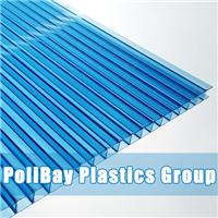 湖蓝色PC阳光板生产厂家