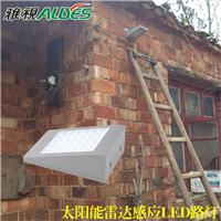 农村家门口用太阳能雷达感应小路灯