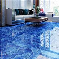佛山直销800蓝色妖姬地板砖 电视背景墙