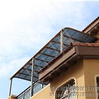 供应质粤铝合金雨棚停车蓬阳台遮雨篷窗棚
