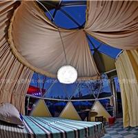 设计安装景区圆形篷房 野奢客房