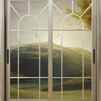 供应铝合金中式推拉门隔音客厅门阳台玻璃门