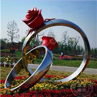 供应不锈钢雕塑/不锈钢戒指/广场雕塑