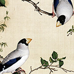郎世宁瓷板画陶瓷壁画陶瓷背景墙青花瓷典