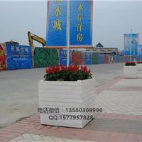 增城广场防腐木花箱|室外道路花玑|小品花钵
