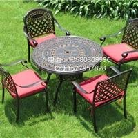 庭院户外铸铝桌椅 高档休闲铸铝桌椅茶几