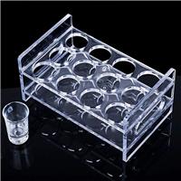 供应有机玻璃亚克力定制加工酒杯架
