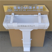 供应济南市铝合金屋面排水系统铝方形雨水管