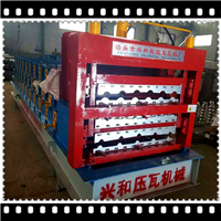 彩钢成型三层840/828/900圆弧琉璃压瓦机
