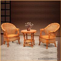 绿欣轩客厅休闲桌椅组合藤椅茶几三件套9009