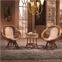 绿欣轩 转椅藤椅茶几三件套 桌椅组合9051B