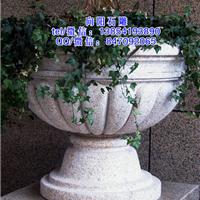 聊城石雕花盆厂家|石雕花钵价格|景观花钵