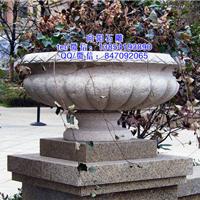 周口石雕花盆厂家|石雕花钵价格|景观花钵