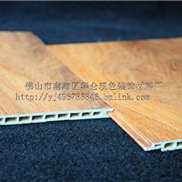 生态木木纹 墙裙材料 pvc护墙板室内墙板