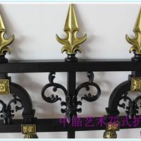 供应锌钢围墙栏杆铝合金尖头与冲压尖头区别