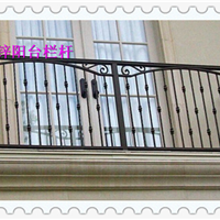 南京两横梁房屋护栏锌钢阳台栏杆定做中晶厂家实实在在