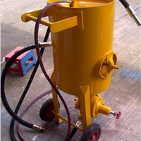 阜宁开放式移动喷砂机喷砂罐