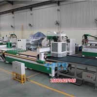 供应自动贴标板式家具数控排钻开料机