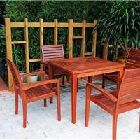 供应园林实木桌椅 餐饮木制桌椅 户外木桌椅