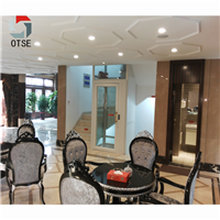 OTSE 4层楼梯中间无机房家用观光别墅电梯