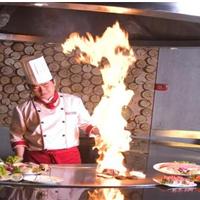 张家口电热无烟连锁铁板烧料理店专用设备