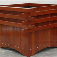 供应香河实木花箱,木栏栅,